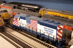 "O Scale Model Train Layouts | Diesel passenger train on the ""O"" gauge model train railroad layout at ..."