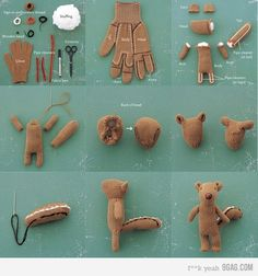 What a cute way to recycle old gloves