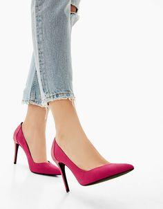 Contrast stiletto heel shoes - SHOES - Bershka Czech Republic