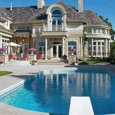 my future house aka my dream home Future House, Swimming Pools Backyard, Swimming Pool Designs, Pool Landscaping, Big Houses, Pool Houses, Dream Houses, Fancy Houses, Dream Pools