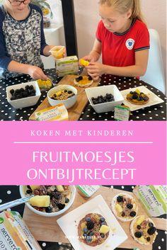 Koken met kinderen: ontbijtrecepten met fruitmoesjes ⋆ Marstyle Fun Food, Good Food, Kids Meals, Parties, Blog, Fiestas, Funny Food, Blogging, Party