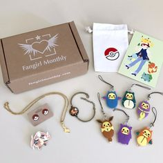 Fangirl monthly is an anime-themed jewelry subscription box. each month you get three to five pieces around a monthly theme plus a collectible postcard and Kawaii Subscription Box, Subscription Gifts, Monthly Subscription, Diy Clothes Rack, Diy Clothes Refashion, Diy Clothes Kawaii, Diy Summer Clothes, Diy Clothes Videos, Monthly Themes