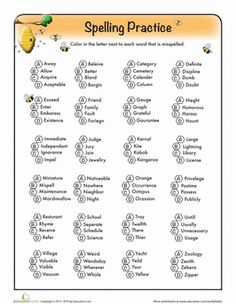 Worksheet 8th Grade Spelling Worksheets nancy dellolio kid and comprehension on pinterest third grade spelling worksheets find the misspelled words