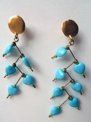 Earrings Turquoise Glass Beads - Nada Zeineh - IMPERIO jp $160.00