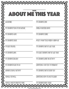 holiday time This New Years Time Capsule Printable Questionnaire for teens and tweens is such a fun New Years tradition to start with your family. Just fill it out and save it to be opened on a future date! New Year Printables, Free Printables, Party Printables, Goals Printable, New Years Activities, Activities For Kids, Mutual Activities, First Day Of School, School Days