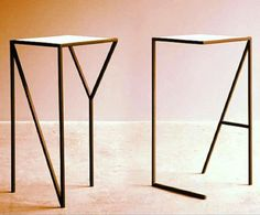 LA & NY tall table by Faktura Design Steel Furniture, Table Furniture, Home Furniture, Furniture Design, Tall Table, Deco Design, Design Design, Design Ideas, Minimalist Home