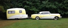 Buick Roadmaster Riviera with Travel Trailer