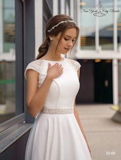 Cathedral Wedding Dress, Sheer Wedding Dress, Wedding Dress Necklines, Wedding Dress Sleeves, Bridal Dresses, Ivory Wedding, Minimalist Wedding Dresses, Light Dress, The Dress