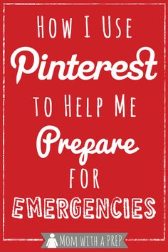 Taking advantage of social media can be helpful in preparedness in more ways than one. Here's how I use Pinterest to help me prepare to become more self-sufficient for my family. // Mom with a PREP