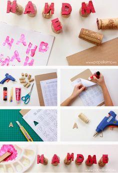 Sellos de estampar con materiales reciclados | Aprender manualidades es facilisimo.com