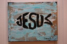 Jesus Fish on Teal Original acrylic abstract by ArtisintheHeart Ichthys, Vbs Crafts, Metal Hangers, Fish Art, Christian Art, Sunday School, Colorful Backgrounds, Art Projects, Art Ideas
