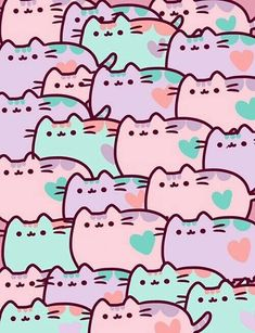 background, cats, and heart image