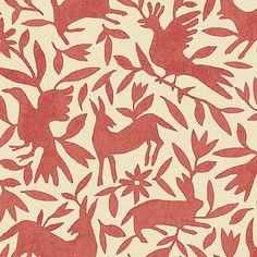 ShopAD - Kerry Joyce Textiles - Print Collection- Flora & Fauna/ Moonstone Blue