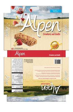 Alpen Cereal Bar Box Re-design by Bansari Shroff, via Behance