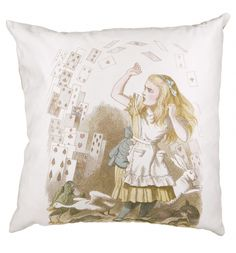 If you love the quirky, nonsense tale of Alice In Wonderland and the stunning John Tenniel illustrations which bring a further sense of magic and mystery to the curious story, this wonderful cushion depicting a classic scene.