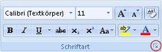 Formatieren von Text als einfach durchgestrichen -  Markieren Sie den Text, der geändert werden soll.  Klicken Sie auf der Registerkarte Start auf den Dialog Box Launcher Schriftart und anschließend auf die Registerkarte Schriftart.  Aktivieren Sie das Kontrollkästchen Durchgestrichen.  - Startprogramm für ein Dialogfeld 'Schriftart' -