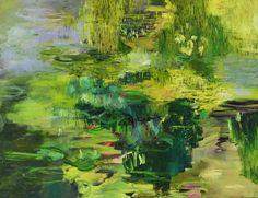 """Saatchi Art Artist: Bjørnar Aaslund; Oil 2013 Painting """"The Pond nr 3"""""""