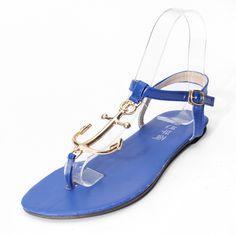 879a12d55ada5b Metal Pirates Anchor T Strap Flip Flop Buckle Sandals