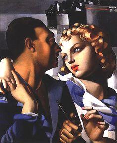 Tamara De Lempicka Painting Couple | COUPLES ET DUOS: Couples et duos chez Tamara de Lempicka