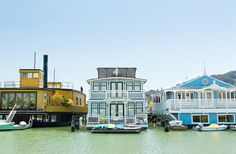 More than 400 houses make up Sausalito's vibrant floating community.
