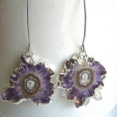 Amethyst Purple Stalactite Geode Agate Silver by JeweltoneJewelry, $65.00