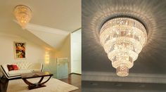 Art Deco ceiling crystal chandelier