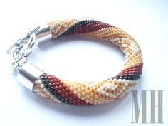 Bransoletka ukośnik z greckim wzorem   MH Biżuteria - cuda ręcznie wykonane
