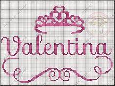 Resultado de imagem para grafico nome valentina em ponto cruz