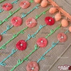 silk ribbon embroidery for beginners Hand Embroidery Patterns Free, Hand Embroidery Projects, Hand Embroidery Flowers, Embroidery Supplies, Crochet Flower Patterns, Hand Embroidery Stitches, Silk Ribbon Embroidery, Embroidery For Beginners, Embroidery Designs