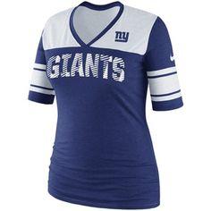 #Fanatics  Nike New York Giants Ladies Touchdown Tri-Blend V-Neck T-Shirt - Royal Blue