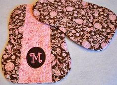 Pieced and Monogrammed Burp Cloth in the hoop