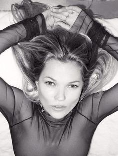 kate moss, ash, black and white