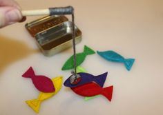 """These games are usually big bucks. Why? Occupational therapists have found that they're great for dveloping fine motor skills. Up went the price. """"""""This video shows you how to make a fishing game that fits inside an Altoids tin."""