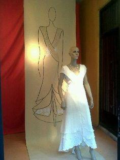Wedding dress by Francisco Ayala White Dress, My Style, Wedding Dresses, Fashion, Brides, Bridal Gowns, Sketch, Bride Dresses, Moda