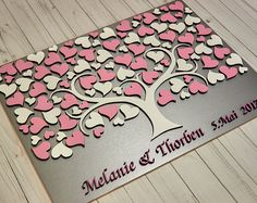 3D wedding guest book alternative Silver wedding guest book