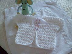Baby girl white crochet jacket