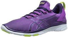 ASICS Womens Gel Fit Sana 2 Fitness Shoe GrapeDark BerryFlash Yellow 95 M US -- Visit the image link more details.
