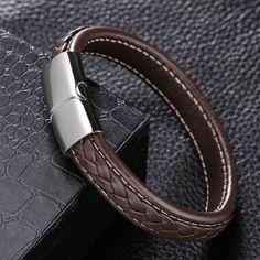 Designer Mens Leather Bracelet