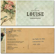 geboortekaartjes Meisjes : geboortekaartje Louise | Originele geboortekaartjes van Hierbenik