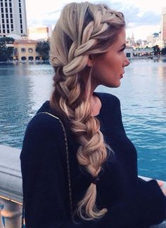 Beautiful Side French Braid
