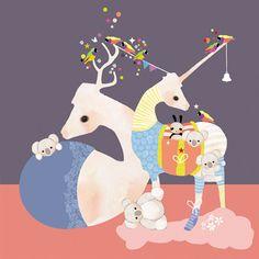 'Llama's in Pyjamas' art print by Schmooks