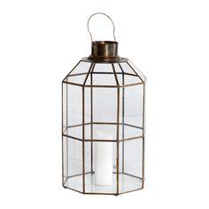 Antiqued Brass Lantern | ACHICA