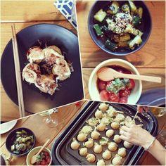 Takoyaki balls: Japanese squid balls