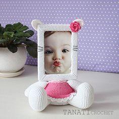 Crochet Pattern of Photo Frame KITTY Tutorial PDF file