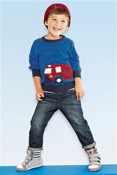 Transport Crew Neck, Skinny Fit Jeans, Grey Marl Hi Top & Basic Beanie