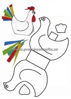 - Tineke From - - Bastelideen zu Ostern - kossuthsuli. Crafts For Teens To Make, Easter Crafts For Kids, Art For Kids, Diy And Crafts, Paper Crafts, Simple Crafts, Craft Fur, Chicken Crafts, Diy Ostern
