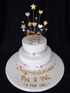 50th anniversary cakes pictures | Pat  Vel's 50th Wedding Anniversary Cake | Flickr - Photo Sharing!