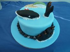 Zach's 6th Birthday cake - the Snail and the Whale, of course!