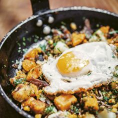 This delicious and hearty duck and hominy hash dish is perfect for brunch. Taken from Pitt Cue's Cookbook