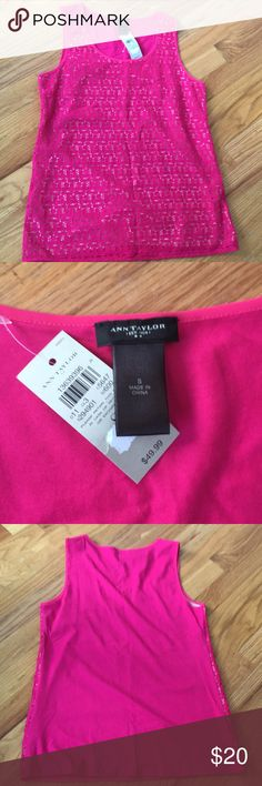 Ann Taylor tank top Brand new pink tank top-perfect for Work! Brand new with tags Ann Taylor Tops Blouses